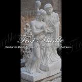 Het hand-gesneden Doopsel van Carrara van het Standbeeld van het Graniet van de Steen van het Beeldhouwwerk Marmeren Witte van Jesus Statue Ms-909