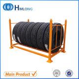 Crémaillères de empilement détachables personnalisées en métal pour l'entreposage des pneus