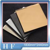 색깔 미러 장식 재료 플로트 유리 3mm 4mm 5mm 6mm 고대 미러 색깔 금 청동 미러