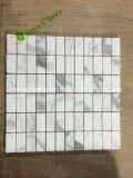 Mosaico di marmo bianco di figura della lanterna di Calacatta