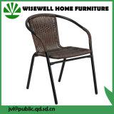 خارجيّة فناء أثاث لازم [بروون] [ويكر] معدن يتعشّى كرسي تثبيت ([وإكسه-020])