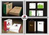 Bolso de Papel Negro Mate del Conjunto de Flexo de la E-Flauta de Tres Capas de la Caja de Cartón