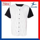 Aduana barata del botón del Mens cuaesquiera camisas de los jerseys de los uniformes de las personas de béisbol del color