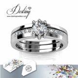 Het Kristal van de Juwelen van het lot van Dubbele Ring Swarovski (Gestileerde 3)