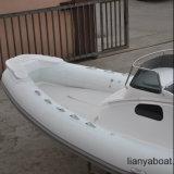 Venda inflável do barco de Hypalon do iate da casca da fibra de vidro de Liya 27ft