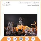 frasco de vidro dos licores 630ml com selo de vidro da cortiça