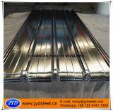 Strato d'acciaio rivestito del tetto dello zinco ondulato
