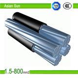 Aluminium-XLPE obenliegend zusammengerolltes Luftkabel des Duplexdes service-11kv Absinken-