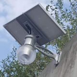 Luz psta solar ao ar livre da luz 800lm da segurança do sensor de movimento