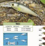 attrait fait sur commande de bonne qualité de pêche d'amorce de manivelle de pêche de 55mm