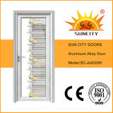 Двери верхней конструкции золотистые полные алюминиевые стеклянные (SC-AAD036)