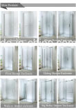 Allegato dell'acquazzone di vetro di scivolamento con il comitato fisso