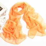 Long Bandana Chiffon orange d'écharpe