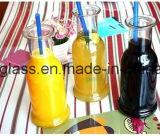 Botellas de cristal del jugo del cristal de botellas de la bebida con la tapa