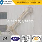 Coût direct d'escalier de structure métallique d'usine élevée en aluminium de Qualtity