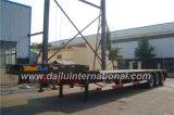 bas lit plat 3-Axle/semi-remorque de Lowboy pour les cargaisons lourdes, sans échelles