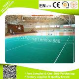 Et transparent de bonne vente cour utilisée par plancher UV Rolls parquetante en plastique de sports d'intérieur de PVC de couche