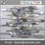 Mosaico di vetro di fusione blu di stile del Bali della piscina del reticolo di fiore