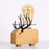Cervos feericamente de madeira creativos Bedlamp de DIY