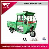 48V800W batería 6 L triciclo eléctrico adulto de la rueda del híbrido 3 del tanque de petróleo