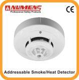 يثنّى كهربائيّ ضوئيّ دخان/حرارة محسّ, دخان وحرارة مكشاف مع [لد] بعيد (600-02)
