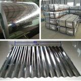 Placa de acero galvanizada acanalada hoja dura llena del material para techos