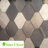 Crema Marfil und graues Marmorsteinmosaik für Wand-Dekoration