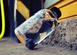 frasco de vidro portátil de Resitance do calor do projeto da forma 1000ml/600ml para presentes