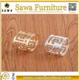 Круглое кольцо салфетки нержавеющей стали золота и серебра