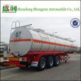 Del petrolio greggio della benzina del serbatoio del camion rimorchio dell'autocisterna del combustibile semi