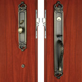 Zinc Alloy di lusso Entrance Handle Set in Satin Brass