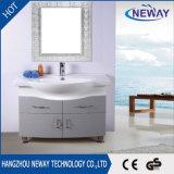 Ванная комната шкафа зеркала стойки пола PVC размера самомоднейшей конструкции малая