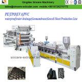 Extrudeuse de film de feuille de PVC Tpo Geomembrane de PE faisant la machine