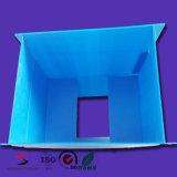 Caixa ondulada da placa dos PP da caixa plástica de Twinwall com tampa