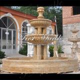 Fontana dorata del granito della sabbia per la decorazione Mf-1094 del giardino