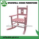 Cadeira de balanço das crianças da madeira de pinho na sala de visitas (W-G-C1095)
