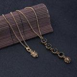 Juwelen van de Tegenhanger van het Ontwerp van de Tijger van de Halsband van Retro Elegante Eenvoudige Zwarte Vrouwen van de Gem van de manier de Hoofd