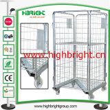Z Frame Base Steel Wire Mesh Laundry Cart
