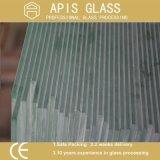 溝が付いている6mm/8mm/10mm/12mmのシャワーの透過緩和されたガラスかNotcheまたは穴またはヒンジの磨かれた端