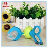 Fácil utilização Alimentador de legumes frescos com saco de mascar de silicone para bebês