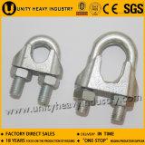 Clip de corde malléable de fil d'acier de Galavanized DIN 741