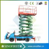 Tables élévatrices montées par camion hydraulique de ciseaux de véhicule