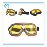 PU Leather Professional Eyewear Casco de motocross Halley Goggles