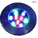lumière souterraine de 9W RVB LED pour le jardin (lumière de la dans-terre)