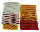 Стержень Pjrs131/132 отметки дороги глаза кота стеклянных фасолей пластичный желтый отражательный