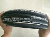 Flechten-flexibler hydraulischer Gummihochdruckschlauch des Stahldraht-R2 zwei