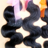 ボディ波の加工されていないブラジルのバージンの人間の毛髪のよこ糸