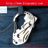 Carabinerの急なホックをハイキングするステンレス鋼のKeychainのバックルのハングのパッドロック