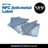 Escritura de la etiqueta anti cuadrada F08 del papel del metal del Hf de Nfc