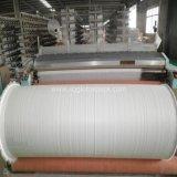 Tissu plat tissé par polypropylène stratifié blanc de la Chine